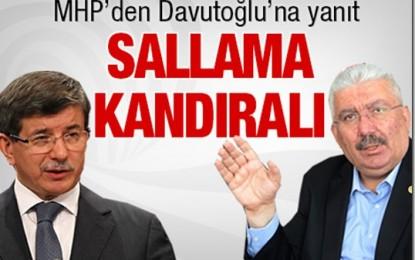 MHP'den Davutoğlu'na Yanıt