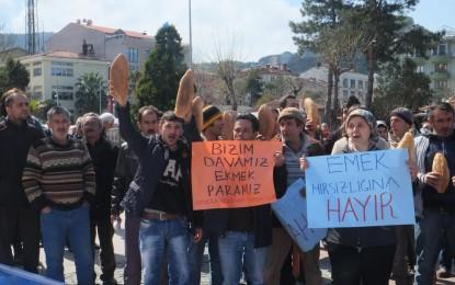 Amasra Belediyesi Çalışanlarından Eylem