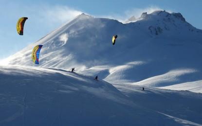 Erciyes'te Snow Kite Heycanı