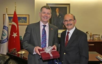 İngiltere Ankara  Büyükelçisi'nden  Büyükerşen'e Ziyaret