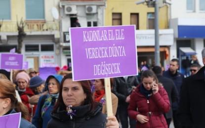 Kırklareli ''Kadınlar''İçin Yürüdü
