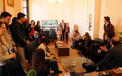 Tekirdağ H.E.M. Halkoyunları Ekiplerinden Başkan Eşkinat'a Teşekkür Ziyareti