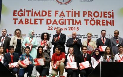 Cumhurbaşkanı Erdoğan, Fatih Projesi Tablet Dağıtım Törenine Katıldı