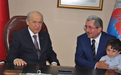 MHP Genel Başkanı Devlet Bahçeli Karabük Belediyesi´ni Ziyaret Etti