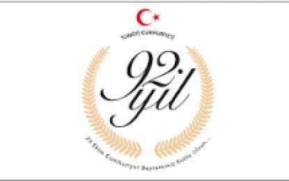 Cumhurbaşkanı Erdoğan'dan 29 Ekim Cumhuriyet Bayramı Mesajı