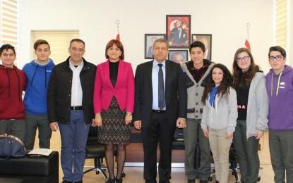 Gazimağusa Belediye Başkanı İsmail Arter,Namık Kemal Lisesi'ni Kabul etti