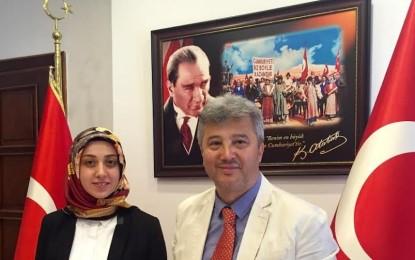 Giresun Dernekler Federasyonunu  Kaymakam Neslihan Kısa'yı ziyaret etti