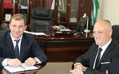 Karaalp Abhazya Dışişleri Bakanı ile Görüştü