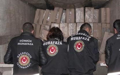 5 ayda 1 milyar 72 milyon lira değerinde kaçakçılık önlendi