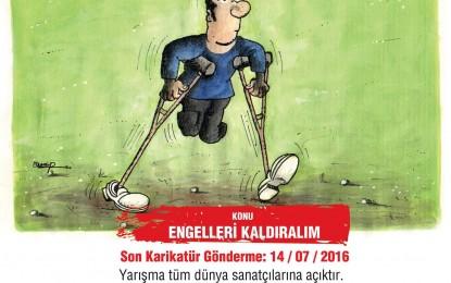"""Büyükşehir'den uluslararası karikatür yarışması  """"Engelsiz bir dünya"""" için çizecekler"""