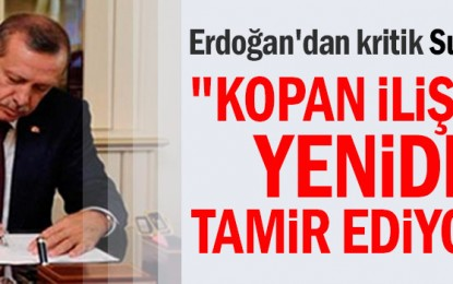 """Erdoğan'dan bayram mesajı: """"Kopan ilişkileri yeniden tamir ediyoruz"""""""
