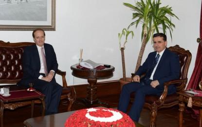 """Fransa'nın Ankara Büyükelçisi Ercan Topaca""""yı ziyaret etti"""