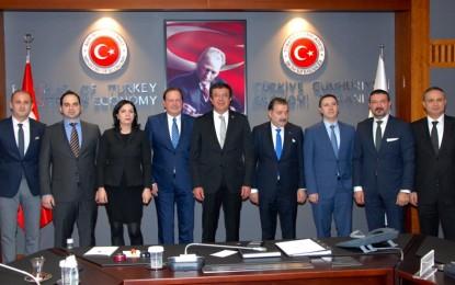 Hollanda'dan NETUBA İş Konseyi Heyeti, Ekonomi Bakanı Nihat Zeybekci'yi ziyaret etti