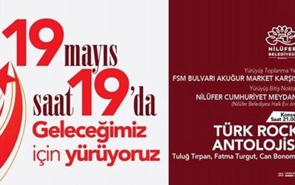 Nilüfer'de binler 19 Mayıs'ta geleceği için yürüyecek