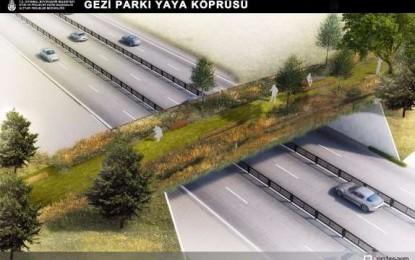 Gezi Parkı ile Maçka Demokrasi Parkı arasına ekolojik yaya köprüsü böyle olacak