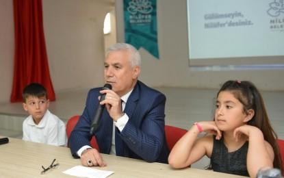 Nilüfer Belediye Başkanı Bozbey'den öğrencilere hedef ve hayal öğüdü