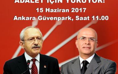 """CHP Genel BaşkanI  Kemal Kılıçdaroğlu: """"Bugün saat 11.00'de Güvenpark'ta olacağım"""