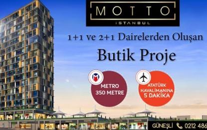 Motto İstanbul 308.000 TL'den Başlayan Fiyatlar, % 1 Peşinat Fırsatı, 2017 Teslim!