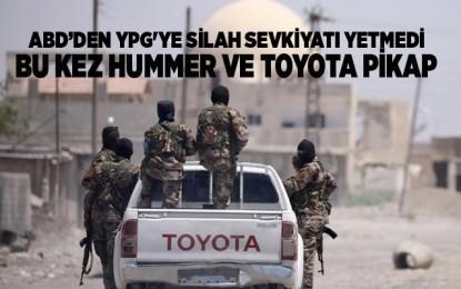 ABD'den YPG'ye silah sevkiyatı yetmedi bu kez Hummer ve Toyota pikap