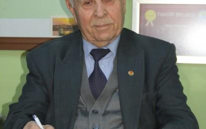 TÜRYAK Trakya bölgesi örnek kıdemli vatandaş seçme onurunu Bu yıl Edirne TEMA Vakfı Temsilciliğ'ne verdi