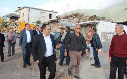 MHP yönetimi afet bölgesinde…