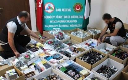 Antalya Gümrük Muhafaza Kaçakçılık ve İstihbarat Müdürlüğü'nden Başarılı Operasyon