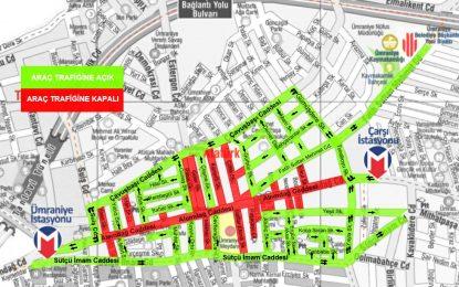 Ümraniye'de Alemdağ Caddesi Yayalaştırılıyor