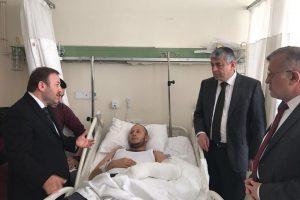 Öztürk'ten Afrin Gazilerine Geçmiş Olsun Ziyareti