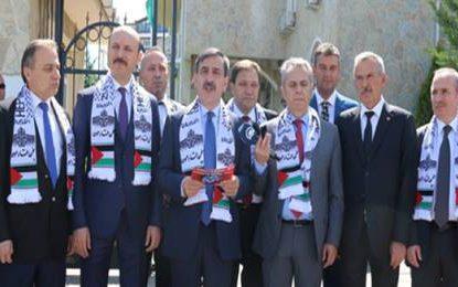 Genel Başkan Kahveci;  İsrail Devleti'nin kurulduğu 14 Mayıs 1948'den beri Filistin kan ve gözyaşının adresi olmuştur