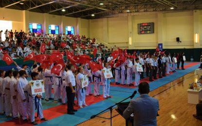 Usta karatecilerden heyecanlı turnuva