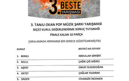 Tanju Okan Beste Yarışması finalistleri belli oldu