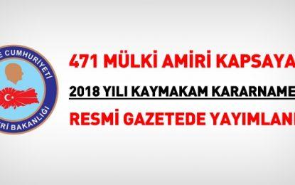 471 mülki idare amirinin yerinin değiştirildi