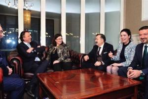 Torunoğulları başkanlığındaki heyet, Hollanda Dışişleri Bakanını ziyaret etti
