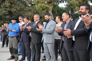 GAZİMAĞUSA'NIN SEMBOLÜ KARGA HEYKELİ'NİN AÇILIŞI YAPILDI
