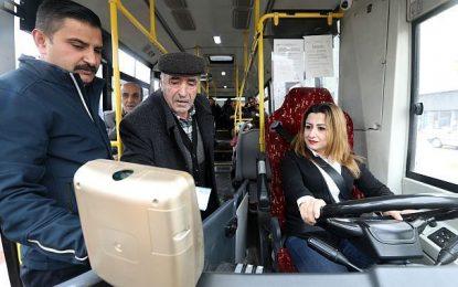 Van'ın Kadın Otobüs Şoförleri Güven Veriyor
