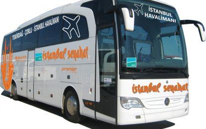 İstanbul Seyahat A.Ş Yeni Havalimanı için Tekirdağ ve Çorlu dan tarifeli seferlere başladı