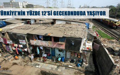 TÜRKİYE'NİN YÜZDE 12'Sİ GECEKONDUDA YAŞIYOR