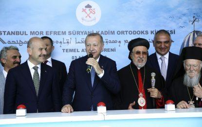 Erdoğan kilisenin temelini attı: Yeni bir zenginlik olarak görüyorum