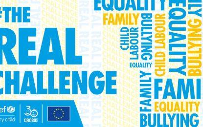 #TheRealChallenge (GerçekZorluk): kendi haklarını savunmaları için milyonlarca çocuğun güçlendirilmesi!