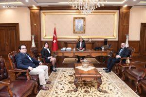 Goodyear Türkiye Genel Müdürü Mahmut Sarıoğlu, Vali Aksoy'u Ziyaret Etti