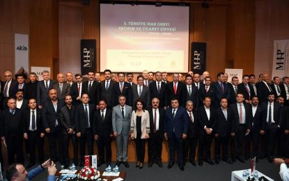 Türkiye-Irak Sanayicileri ve İş adamları Derneği'nin (TISİAD) düzenlediği 3. Türkiye-Irak (IKBY) Ticaret ve Yatırım Zirvesi Mersin'de ve Adana'da düzenlendi